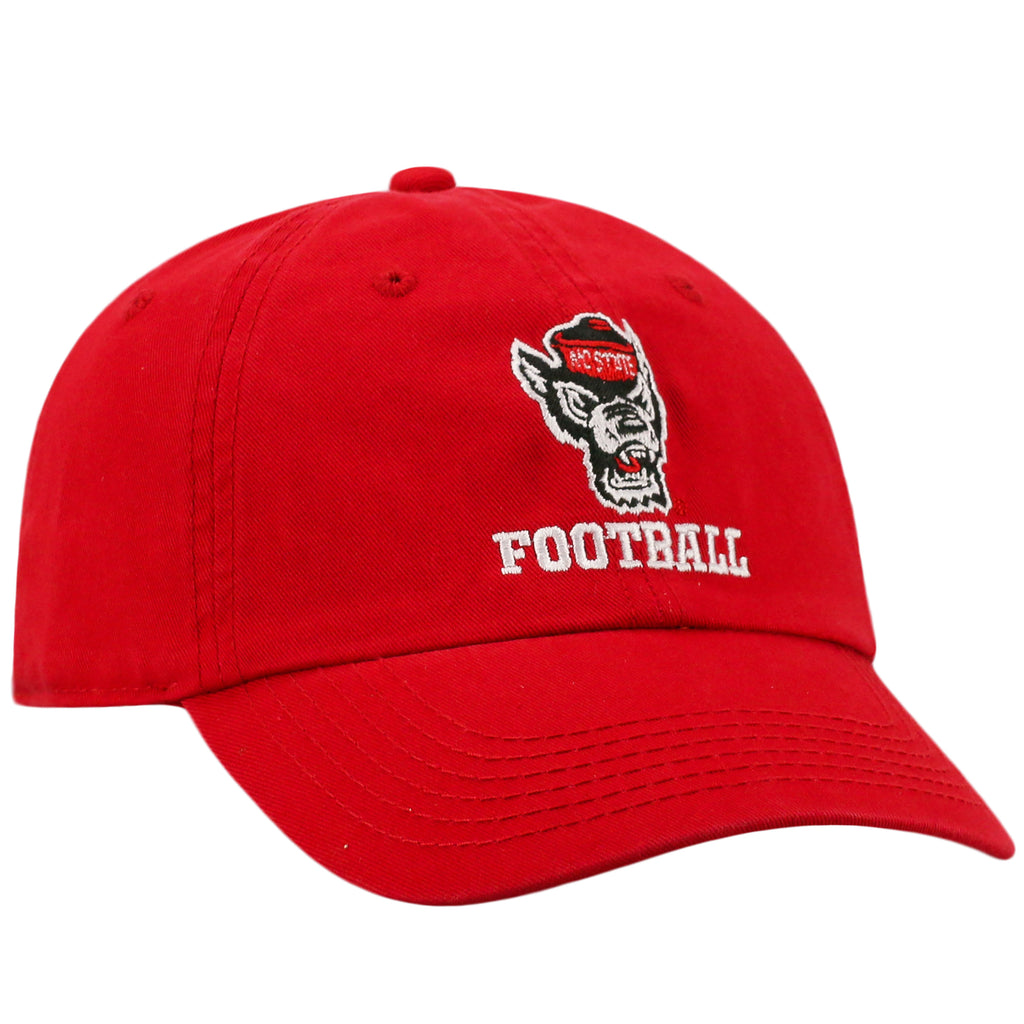 NC State Wolfpack TOW Red Wolfhead Football Adjustable Hat