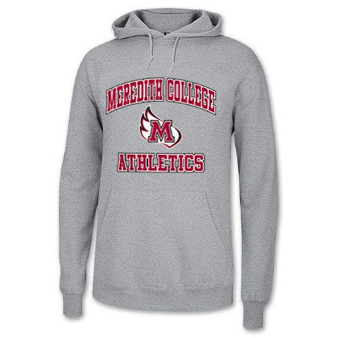 Meredith College Athletics Sports Grey Hooded Sweatshirt