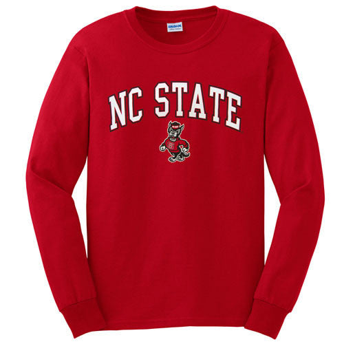 NC State Wolfpack Youth Red Signature Strutting Wolf Long Sleeve T-Shirt
