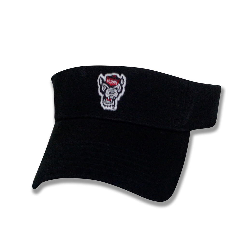 NC State Wolfpack The Game Black Wolfhead Visor