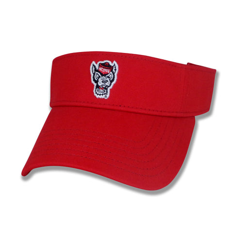 NC State Wolfpack The Game Red Wolfhead Visor