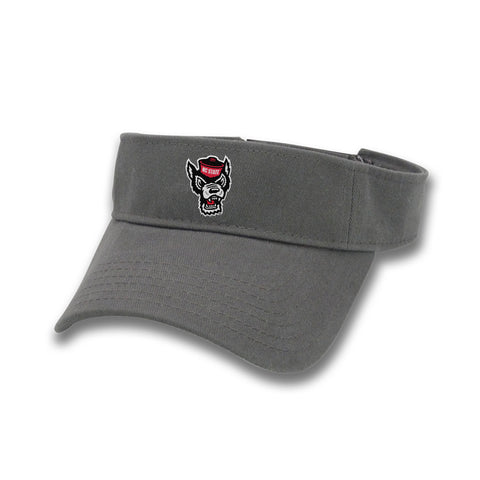 NC State Wolfpack The Game Charcoal Wolfhead Visor