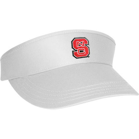 "NC State Wolfpack White ""The Game"" Golf Visor"