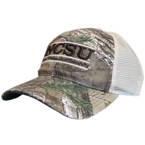 NC State Wolfpack Camo Mesh Snapback Trucker Bar Hat