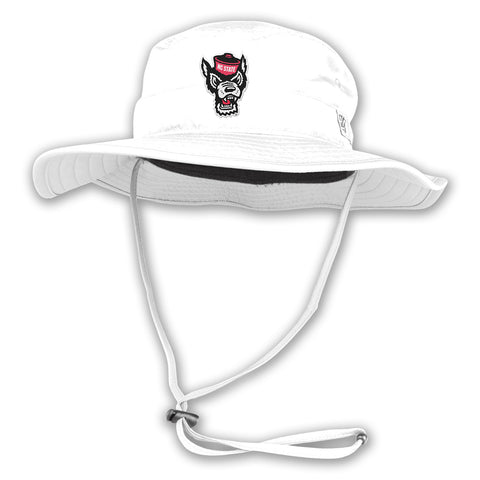 NC State Wolfpack White Wolfhead Boonie Hat