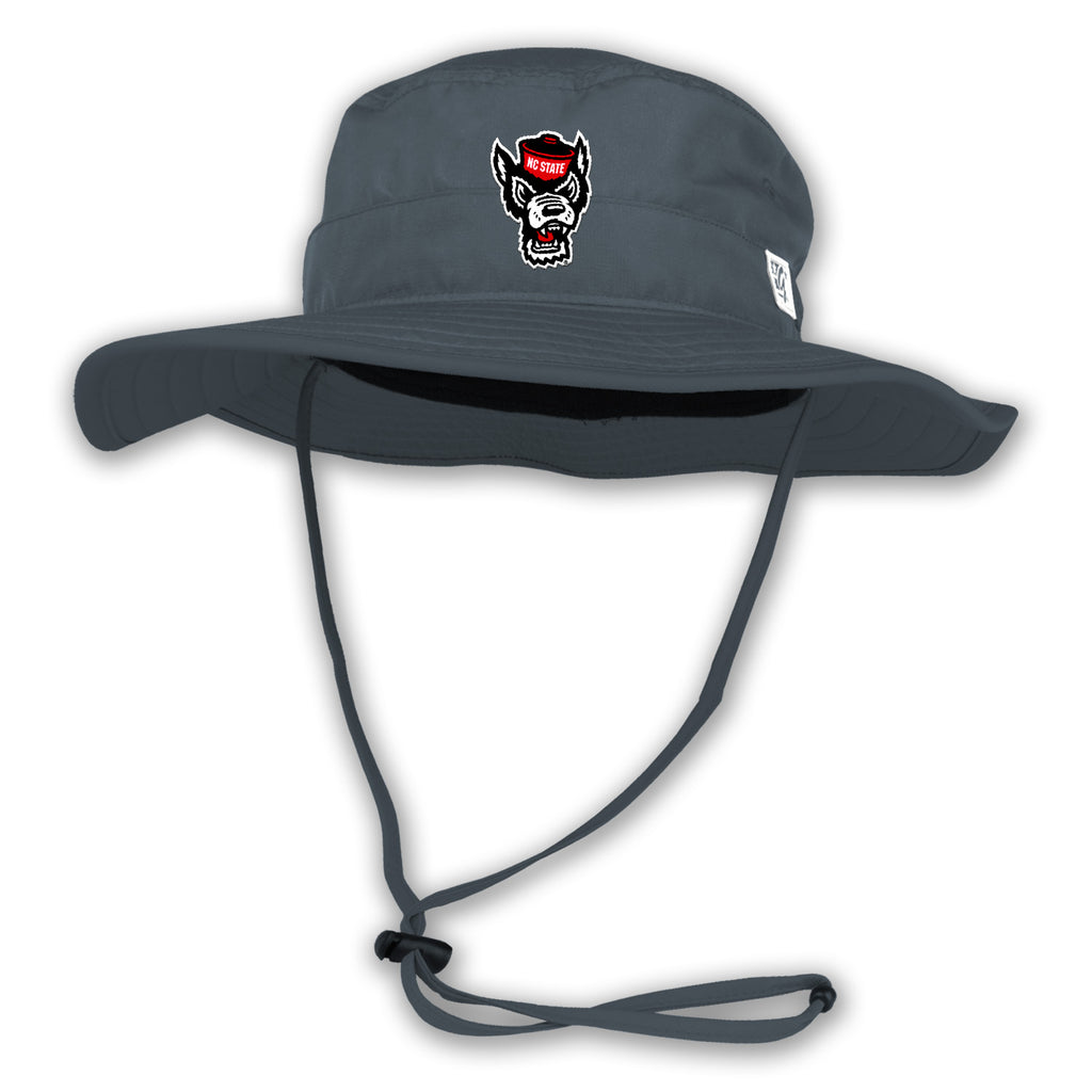 NC State Wolfpack Dark Grey Wolfhead Boonie Hat – Red and White Shop b7c72964c9b
