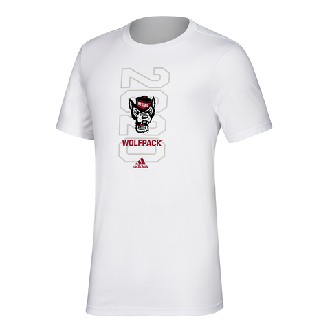 NC State Wolfpack Adidas White 2020 March Madness Amplifier T-Shirt