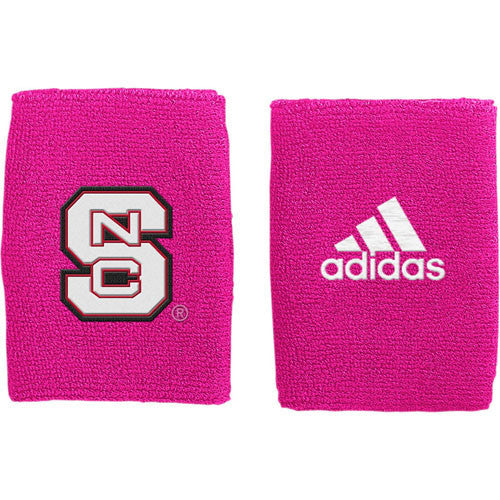 NC State Wolfpack adidas® Pink Breast Cancer Awareness 4-inch Wristbands