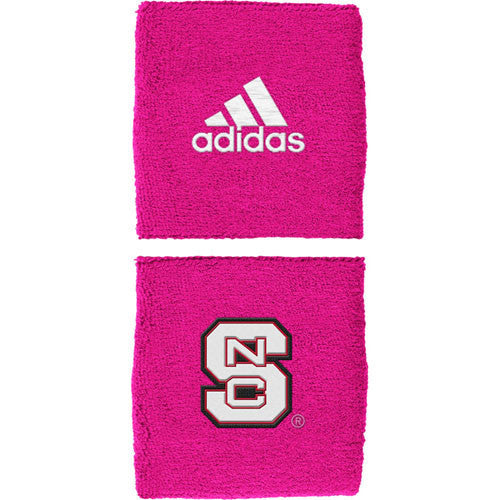 NC State Wolfpack adidas® Pink Breast Cancer Awareness 1-inch Wristbands