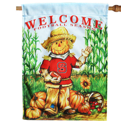 NC State Wolfpack Fall Football Harvest House Flag
