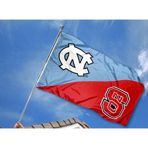 NC State Wolfpack UNC House Divided 3X5 Flag