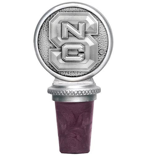 NC State Wolfpack Engraved Pewter Block S Wine Bottle Stopper