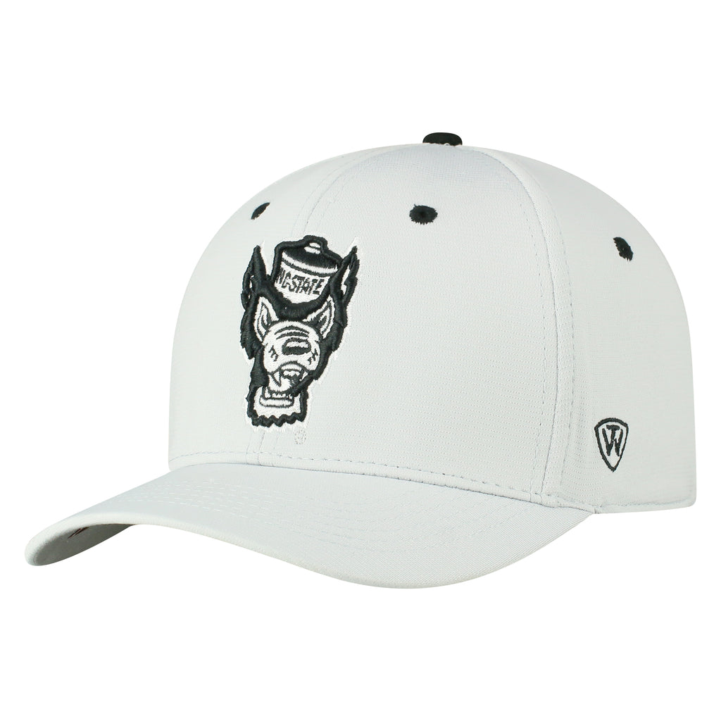 NC State Wolfpack TOW Light Grey Hypower One Fit Hat