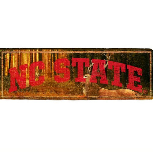 North Carolina State Wolfpack Deer Hunting Lodge Mill Wood Art