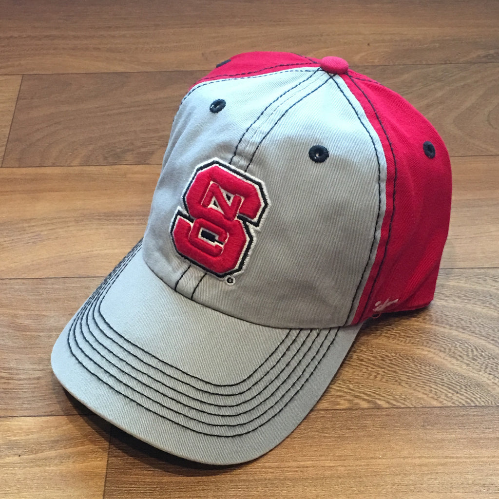 NC State Wolfpack 47 Brand Red and Grey Tumult Adjustable Hat