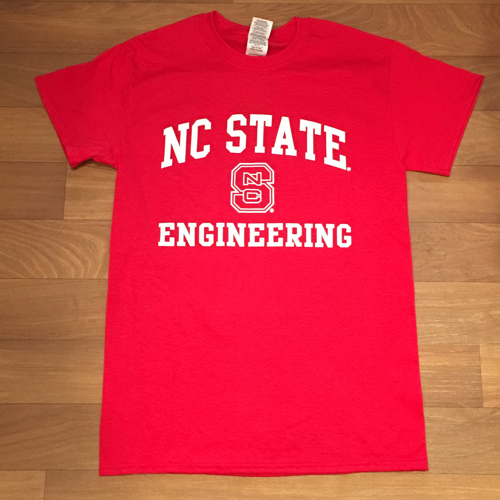 Nc State Wolfpack Red Engineering Block S T Shirt Red