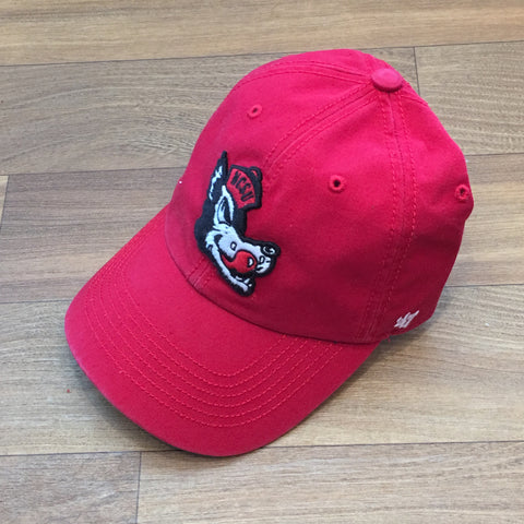 NC State Wolfpack 47 Brand Red Slobbering Wolf Franchise Fitted Hat