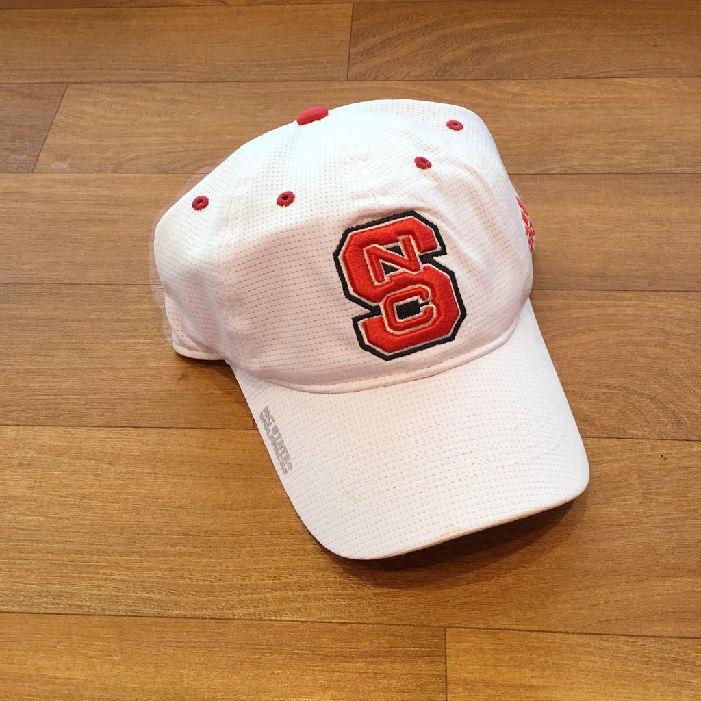 NC State Wolfpack Adidas 2016 White Sideline Coaches Adjustable Hat