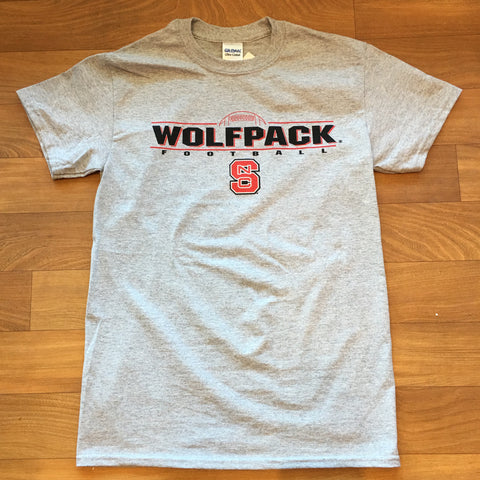 NC State Wolfpack Grey Wolfpack Football Youth T-Shirt