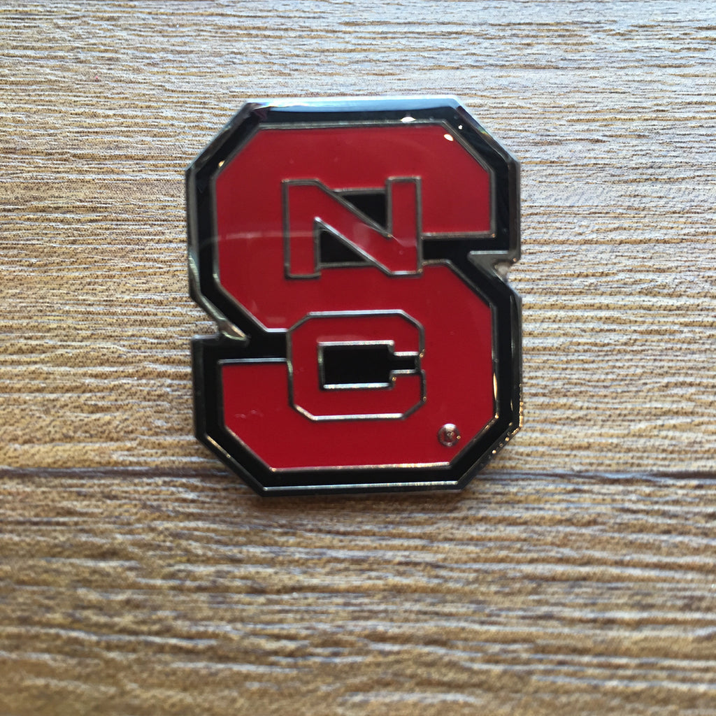 NC State Wolfpack Red Block S Lapel Pin
