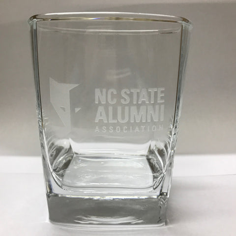NC State Wolfpack Alumni Association 13 oz Rocks Glass