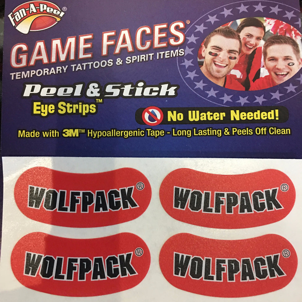 NC State Wolfpack Red Wolfpack Eye Strips