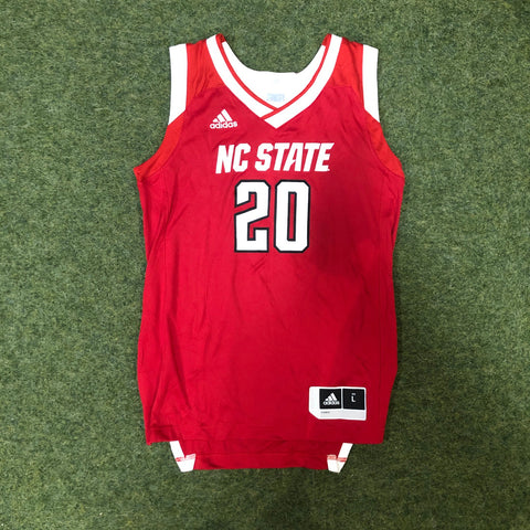 NC State Wolfpack Adidas Youth Red 2019 #20 Basketball Jersey