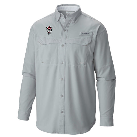 NC State Wolfpack Columbia Cool Grey Wolfhead Low Drag Offshore Long Sleeve Shirt