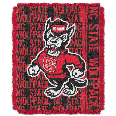NC State Wolfpack Woven Jacquard Strutting Wolf Throw