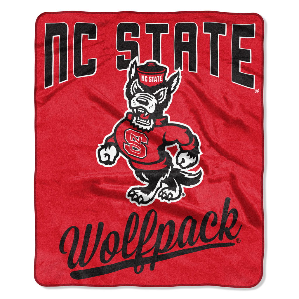 NC State Wolfpack Red Strutting Wolf 50x60 Royal Plush Raschel Throw Blanket