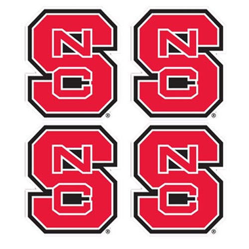Nc State Wolfpack Mini Block S Decal 4 Pack Red And