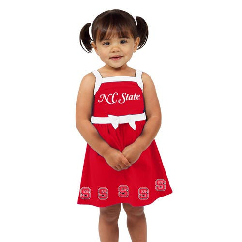 NC State Wolfpack Infant/Toddler Red Girls Party Dress