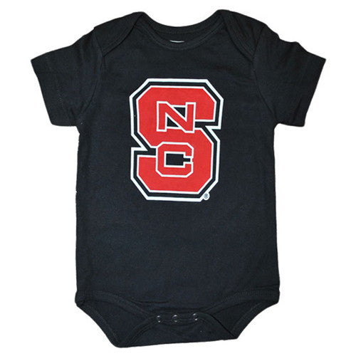 NC State Wolfpack Infant Black Jimmy Onesie