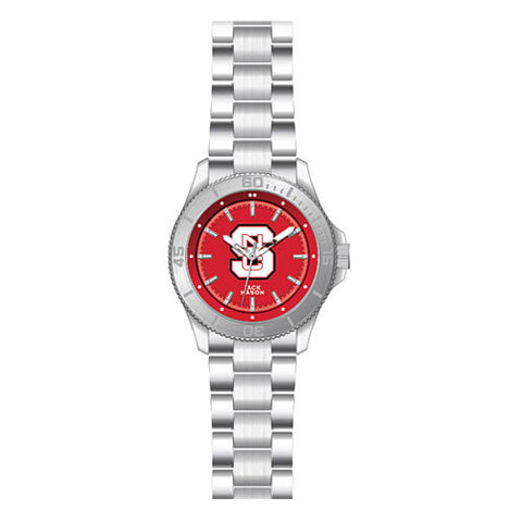 NC State Men's Sport Bracelet Team Color Dial Watch