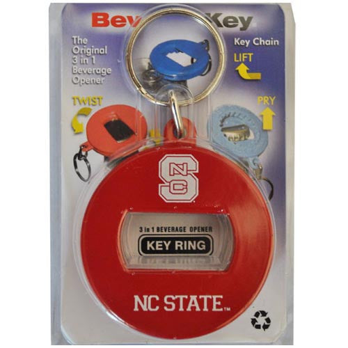 NC State Wolfpack Red Keychain Bottle Opener