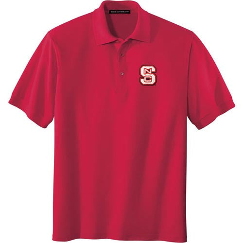 NC State Wolfpack Red Silk Touch Polo