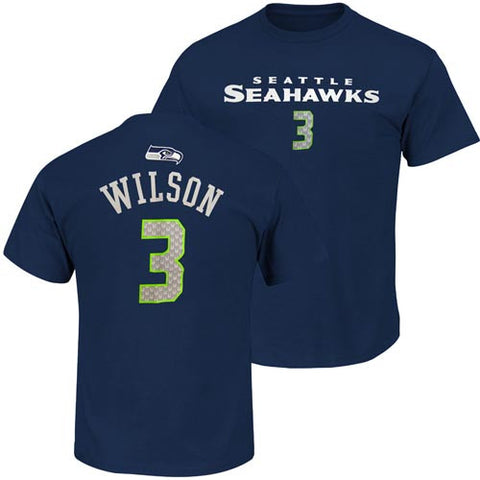 Seattle Seahawks Youth #3 Primary Name and Number T-Shirt