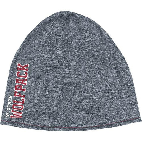 NC State Wolfpack adidas® Grey Cuffless Knit Polyester Reversible Beanie