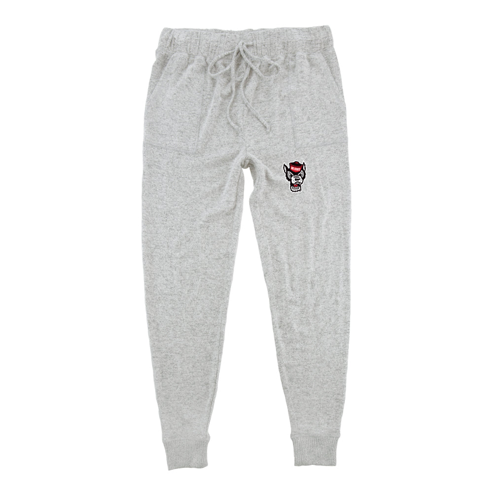 NC State Wolfpack Ladies Oxford Cuddle Jogger Pants