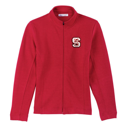 NC State Wolfpack Women's Red Flatback Rib Full-Zip Jacket
