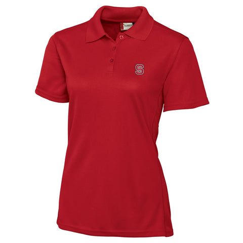 NC State Wolfpack Clique Women's Red Ice Pique Polo