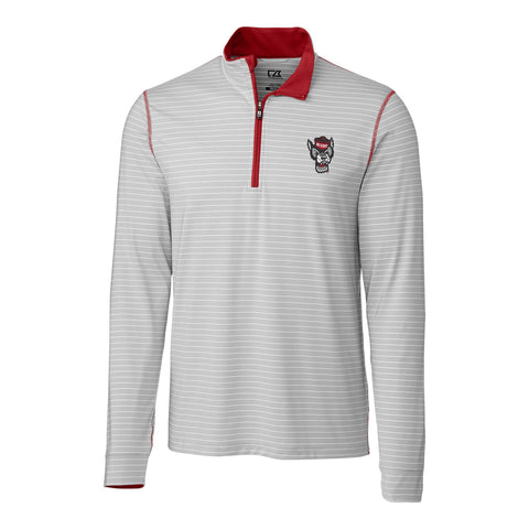 NC State Wolfpack Cutter & Buck Meridian Wolfhead 1/4 Zip Pullover