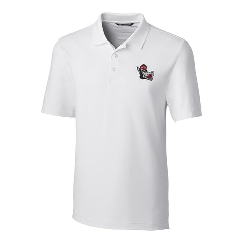 NC State Wolfpack Cutter & Buck White Slobbering Wolf Forge Polo