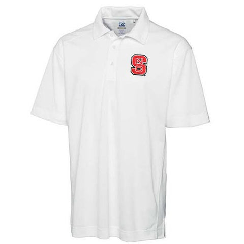 NC State Wolfpack Cutter & Buck® White DryTec Genre Polo