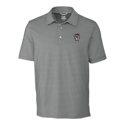 NC State Wolfpack Cutter & Buck Grey Division Stripe Wolfhead Polo