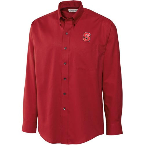 NC State Wolfpack C&B Red Epic Easy Care Nailshead Dress Shirt