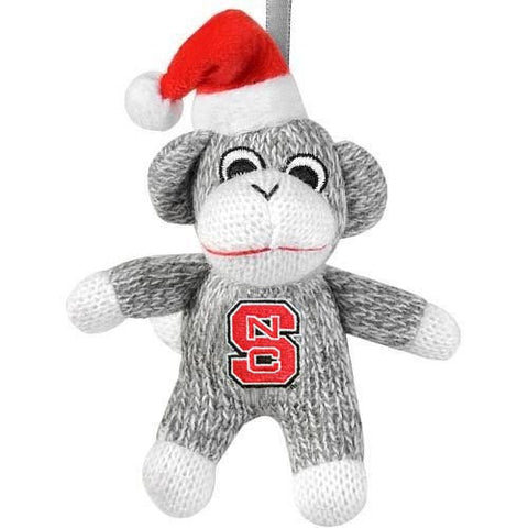 "NC State Wolfpack 5"" Plush Sock Monkey Ornament"