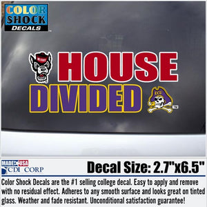 NC State Wolfpack / ECU House Divided Decal