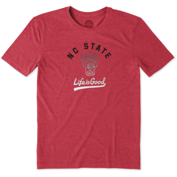 NC State Wolfpack Life Is Good Red Gradient Tailwhip Cool T-Shirt