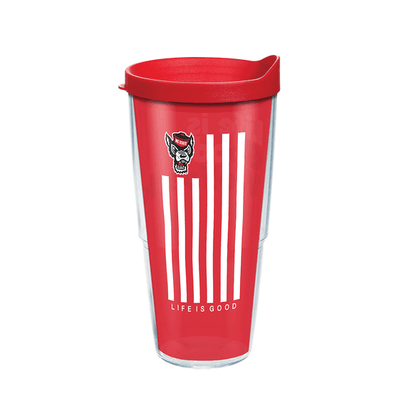 nc state wolfpack 24oz red life is good tervis tumbler w lid red
